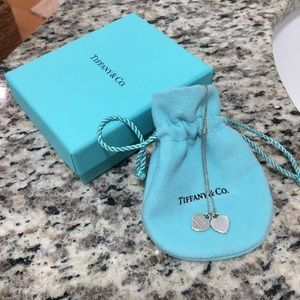 Tiffany & Co. Mini Double Heart Tag Neckalce